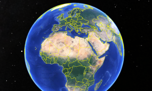 Global View of Africa and the Middle East. Source: Google Earth