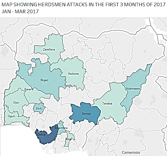 herdsmen-attack-map