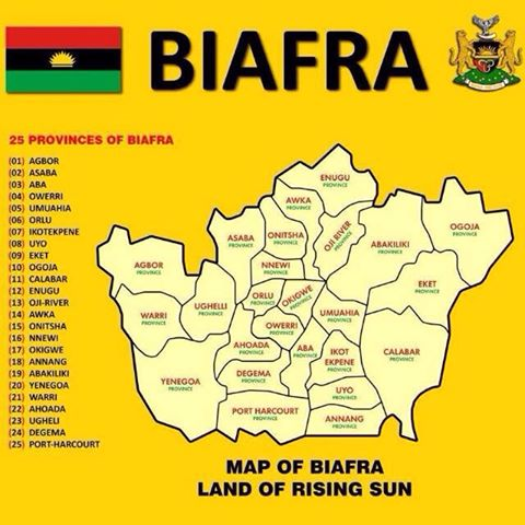 Proposed Map of Biafra